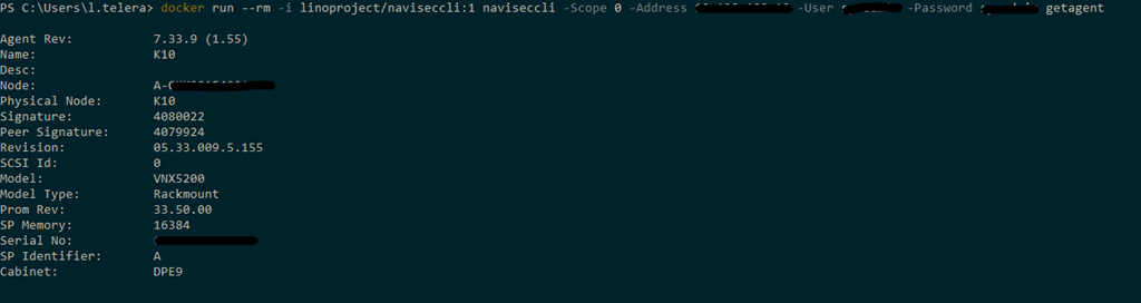 "A ""container"" way to execute powercli and naviseccli 